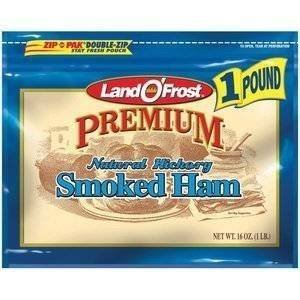 LAND O' FROST PREMIUM LUNCH MEAT COLD CUTS SMOKED HAM 16 OZ PACK OF 2