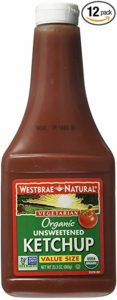 Westbrae Natural Organic Unsweetened Ketchup, 23.2 oz. (Pack of 12)