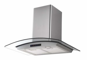 """Kitchen Bath Collection HA75-LED Stainless Steel Wall-Mounted Kitchen Range Hood with Tempered Glass Canopy and Touch Screen Panel, 30"""""""